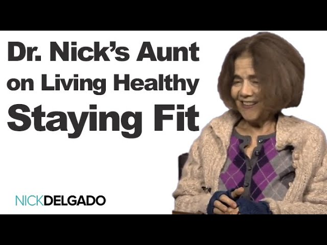 Dr Nick's aunt switched from Atkins diet to a healthy plant based diet, exercise for over 39 years