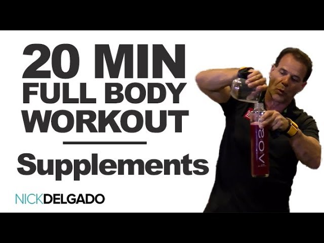 20 Minute FULL BODY Workout (Chest, Legs, Arms) – Super Power Supplements Part 3