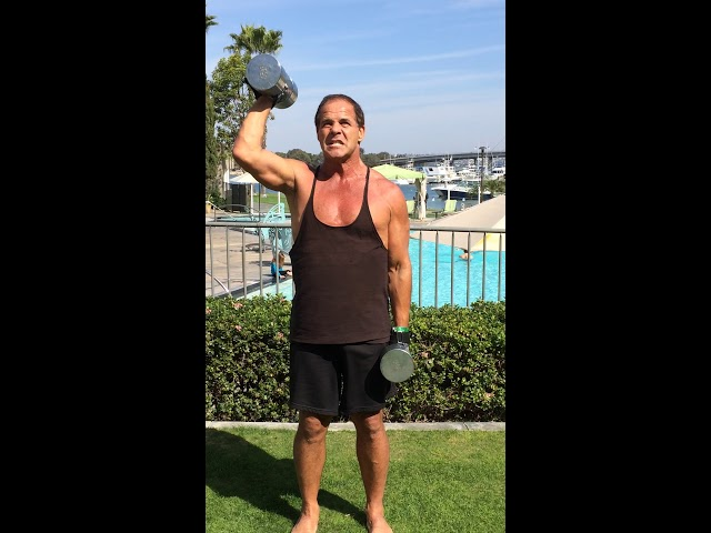 45 lbs Dr. Nick Power lifts at Secret Knock. upper body training, biceps, triceps, traps, back, abs