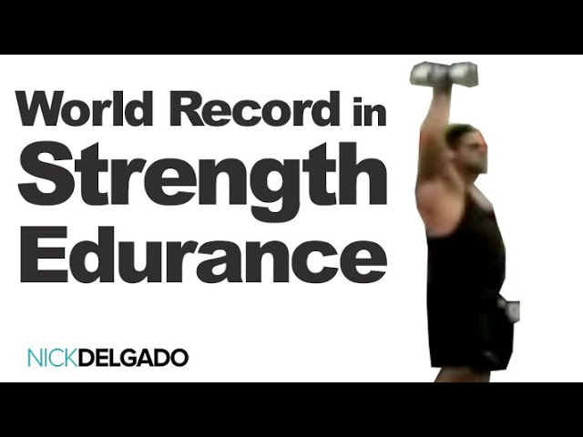 Dr. Nick Delgado Sets The World Record in Strength Endurance